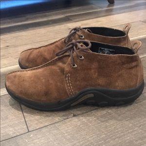Merrell men's suede leather comfort shoes sz 13